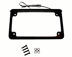 Led Motorcycle License Plate Frame 7 25in X 4 21 With 6