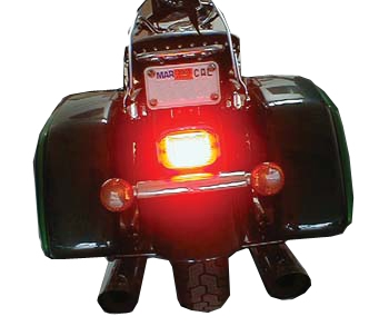 Verticle Plate LED Tail Light For Kawasaki VN Vulcan Classic Nomad Drifter 1500